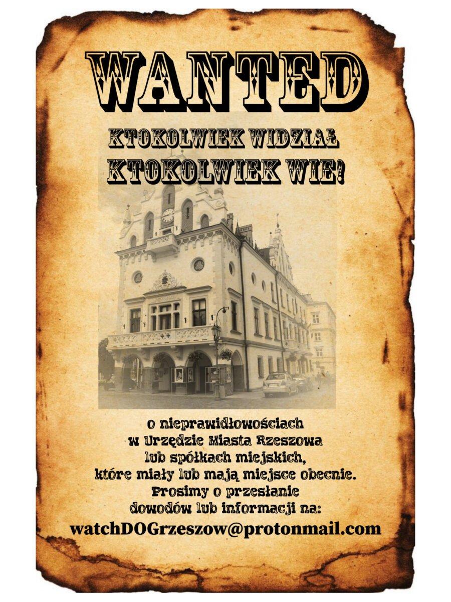 Inicjatywa Watchdog Rzeszów – społeczny audyt władz miasta Rzeszowa